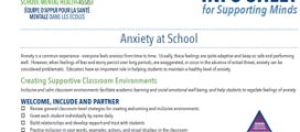 Anxiety at School