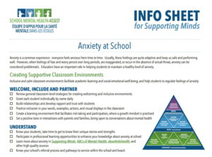 Back-to-School Featured Resource Educator Info-Sheet on Helping Students to Manage Anxiety information