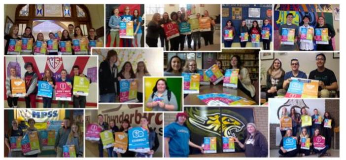 Collage of the Be Well Campaign