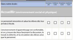 Formulaire interactif de l'outil de réflexion - Diriger pour favoriser la santé mentale à l'école