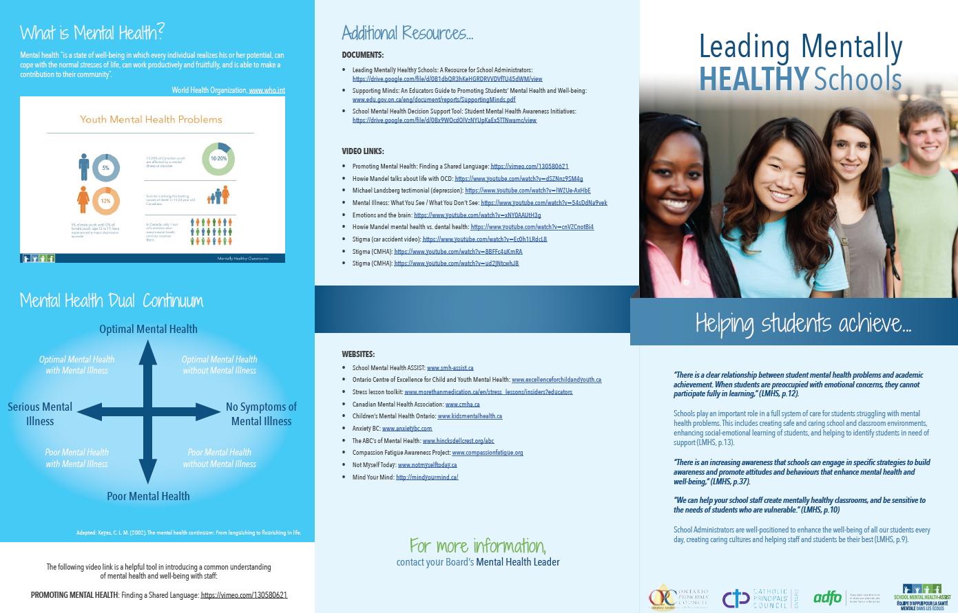 SMH-ASSIST » Leading Mentally Healthy Schools Brochure: a