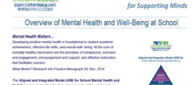 Overview of Mental Health and Well-Being at School Infosheet