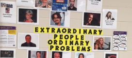 Pictures of people with words reading - Extraordinary People Ordinary Problems