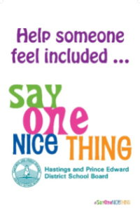 Say One Nice Thing Banner