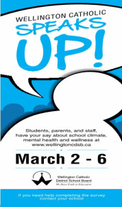 Wellington Catholic Speaks-Up on March 2-6