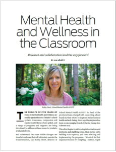 First page of article regarding Mental Health and Wellness in the Classroom.